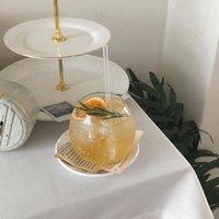 Wine Glasses Simple Big Belly Cup Milk Tea Ice Coffee Juice Beverage Soda Glass Dormitory Shop Drinking