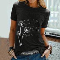 Women's T-Shirt Female Dandelion Printing T Shirt Summer Short Sleeve Top Camisetas De Mujer Casual Clothes Clothing Women