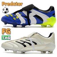 Высочайшее качество футбольные ботинки хищник ускоритель FG 20 синий белый вольт тройной черный роскошный мужской дизайнерские сапоги мужчин футбольные блюда кроссовки