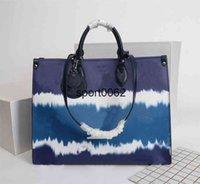 حقائب اليد المحافظ النساء التعادل صبغ Onthego GM Clutch حمل MM Escale Crossbody جلد طبيعي مساء التسوق حقيبة