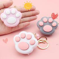 Mini gato jogo de pata keychain LED Jogos de memória eletrônica para crianças adultos chaveiros Anti Stress Fidget Brinquedos OWF6727