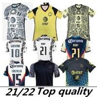 Liga MX 21 22 Club America Soccer Jerseys Green Third Henry 3rd Giovani Caceres B.Valdez 2021 الصفحة الرئيسية Mailleot Men Kids Kit