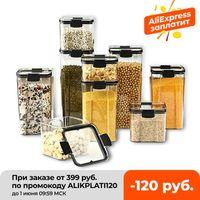 700/1300/1800 ml Gıda Depolama Konteyner Plastik Mutfak Buzdolabı Erişte Kutusu MultiGrain Tankı Şeffaf Mühürlü Kutular