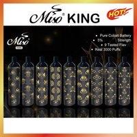 MISO King одноразовые Vape Pen Device Электронные сигареты 400 мАч Батарея Зарубежные 8,0 мл Стручки 3000 Заголовок Стартовый комплект Оригинальные пары Bang XXL High Pro Max