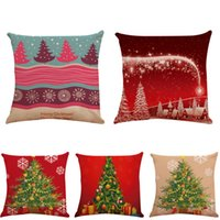 Pillowcase Case Pure Color Polyester White Pillow Cushion Cover Decor Blank Christmas Gift 45 * 45CM IB274