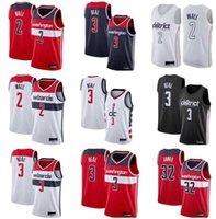 Personalizado impreso Bradley 3 Beal John 2 Wall Troy 6 Brown 28 Ian 42 Davis Mahinmi Bertans 14 Ish 8 Rui Smith Hachimura Basketball Jerseys