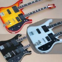Basso elettrico e chitarra a doppio collo in fabbrica e chitarra, 4 + 6 corde, hardware cromato, 3 colori, offerta personalizzata