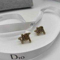 Christian Dio Fashion Charm Earrings Luxury Personality for Sweet Women Romantic Simple Jewelry Holiday Gifts With Box
