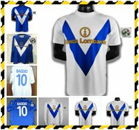 2002 2003 Rétro Brescia Calcio Jerseys Soccer Soccer Caracciolo Baggio Mauri Vintage Classique Custom 02 03 04 Chemise de football à manches longues courtes
