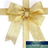 1 stks10mm 20mm breedte 25 yard organza glitter linten voor bruiloft ambachtelijke boog decoraties goud / sliver