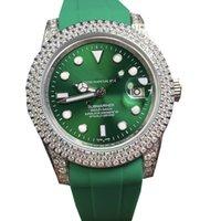 Relojes mecánicos automáticos para hombre Luxe Sapphire Mirror Reloj impermeable Luminoso Luminoso Caja de acero inoxidable 40mm Natación Buceo