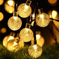 Solar String Lights Crystal Balls Waterproof LED Fairy Lights 8 Modes Outdoor Starry Lights Solar Powered String Light for Garden Yard Home Party Wedding Decoration