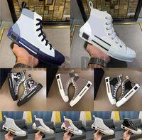 Top Quality B22 B23 Casual Chaussures Femmes Homme Haute basse-Baskets obliques Baskets Embroidery imprimé Alphabet Toile