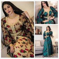 2021 Moda Tasarım kadın Bahar Sonbahar Etnik Baskı Nakış Dantel Mesh Maxi Uzun Artı Boyutu Elbiseler SMLXL