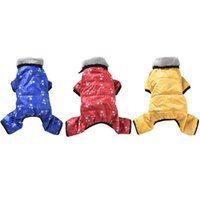 Dog Apparel Winter Clothes Pet Windproof Overalls For Dogs Warm Down Jacket Waterproof Thicken Parka Jumpsuit Puppy Outfit