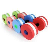 زوج الرغوة الدمبل أدوات اللياقة البدنية إيفا 28x15 سنتيمتر للجنسين الحديدي التمارين الرياضية ممارسة بركة الملحقات الدمبل