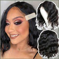 Lace Wigs Short Bob Wig Human Hair For Black Women Body Wave 4x4 Brazilian Remy Closure 12 Inch