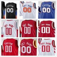 사용자 정의 농구 모든 이름 번호 휴스턴 뉴택 저지 빈 남자 청소년 훈련 유니폼 셔츠 bule black white jerseys