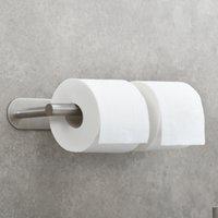 WACO حامل ورق التواليت الفولاذ المقاوم للصدأ لمنظمة تخزين الحمام، الحديثة المرحاض المرحاض حامل الحائط المصقول النيكل