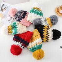Womens Winter Knitted Beanie Hat Warm Lined Knitted Soft Beanie Women Ski Cap HWF11289