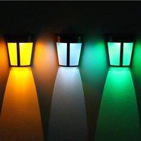 Solar Lights LED Outdoor Wall Lamp for Garden Patio Yard Driveway Garage Hallway Porch Pathway Lantern usalight