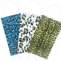 Leopard Print Party Masks Designer 3 Layer 95%Filtration Efficiency Adult Gauze Disposable Mask Cartoon Letters Dustproof Prevention of Influenza Breathable