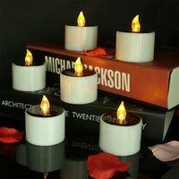 Солнечные светодиодные свечи чайные огни Беспламенный электрический теплый белый мерцающий водонепроницаемый открытый ночной свет Crestech