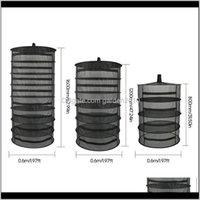 Organização de Armazenamento de Lavanderia Planta Dobrável Tecido De Secagem Rack Zipper Fechamento Design Net para Ervas Buds Feijão 4/6 / 8Layers 2GPY 3WTDD