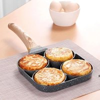 Pan d'oeufs frit non-bâton Omelette Quatre-trous Pancake Pancake Pancake Cuisson Cuisinière Pans Flip Oeufs Moule Cuisine Cuisine Accessoires DHA5176