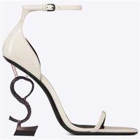 Classics Women shoes heels Sandals fashion Beach Thick bottom Dress Shoe Alphabet lady Sandal Leather High heel