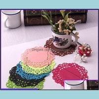 Mats Table Decoration Aessories Kitchen, Dining Bar Home & Gardenhollow Sile Flowers Pads Cup Fashionable Candy-Colored Place Mat Insation A