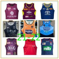 20-21 Tanque de alças Austrália Melbourne Tempestade Qld Maroons Rugby Jerseys Brisbane Broncos South Gales Blues Estado Fiji Knightsydney Roosters Nrl League Jersey Colete