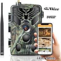 4K Live Video APP Control Trail Camera Cloud Service 30MP Hunting Cameras 4G Cellular Mobile IP66 Wildlife Night Vision