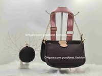 Women Luxurys Designers Bags 2021 Tote Hand shopping Crossbody Fashion leather pochette shoulder Metal chain old flower Tassel classic Brown