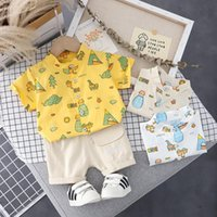 Clothing Sets Baby Clothes Set Summer Boy Cartoon Print Short-sleeve Shirt Fashion Casual 2-piece Suit For Boys