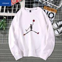 Sweats à capuche Hommes Sports Basketball Air Sweats Jumper Sweatshirts Femmes Pull Casual Tops Coton Hip Hop Oc