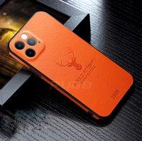 الأيائل فروة الرأس نمط الحالات الهاتف المحمول ل iPhone 12Pro 12MINI 11 XSMAX XR XS شاملة الغطاء الواقي المضاد للسقوط