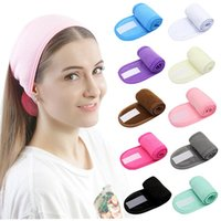 Hair Clips & Barrettes Wash Face Holder Hairbands Adjustable Makeup Hairband Soft Toweling Bath Cosmetic Headbands For Women Girl Accessorie