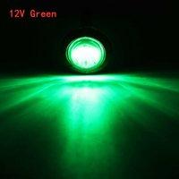 4PCS 12V Зеленый 3/4 дюйма круглый светодиодный передний задний боковой маркерные огни автомобильные лампочки Водонепроницаемый освещение света для универсального трейлера грузовика