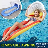 Summer Swimming Pool Inflatable Water Floating Bed Chairs Ma...