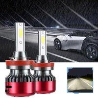 Car Headlights 1pair H7 H4 LED Headlight 24000LM H1 H11 9005 9006 Lights Bulb 6500K White Bubls Accessories