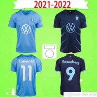 21 22 Malmö FF كرة القدم جيرسي 2021 2022 مالمو Camisetas Ola Toivonen Anders Christiansen Isaac Kiese Thelin Markus Rosenberg Jonas Knudsen