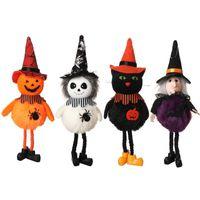 Cadılar bayramı Dekorasyon Asılı Bahçe Fantezi Peluş Oyuncak Kabak Cadı Siyah Kedi Hayalet Ile Örümcek Yuvarlak Göbek Şapka Sayfa Süs Parti Bar Dekor