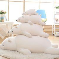 35/50 / 60/70/90 / 110cm kawaii stor isbjörn plysch leksak mjuka skum partiklar pappa björn simulering Stora barn tyg docka kudde födelsedaggåva för barn