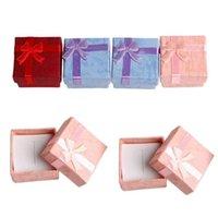 Scatola di carta di stoccaggio di gioielli Multi colori anello anello orecchino custodie con confezionamento confezione regalo per anniversari compleanni regali
