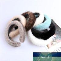 Women's luxury winter 100% mink fur headband high quality real fur hair band lady fashion hair hoop Factory price expert design Quality Latest Style Original Status