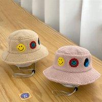 어린이 겨울 따뜻한 어부의 모자 성격 아이콘 미소 작은 표현