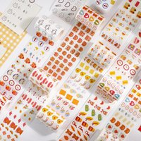 Gift Wrap Catoon Washi Paper Masking Stickers Love Heart Rainbow Tape For DIY Po Decoration Scrapbooking