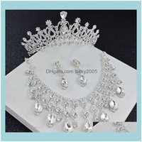, Party & Eventsvintage 2021 Crystal Sier Bridal Crown Necklace Earring Sets Women Jewelry Wedding Aessories Set Formal Events Weardress Tpz