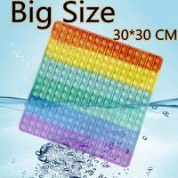30CM Large Squishy Fidget Toy Push Bubble Sensory Big Size Children Gift Adults Autism Stress Reliever Decompression Toys FY2711